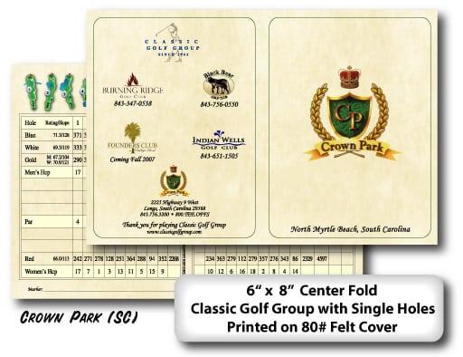 scorecards unlimited custom scorecards, yardage cards